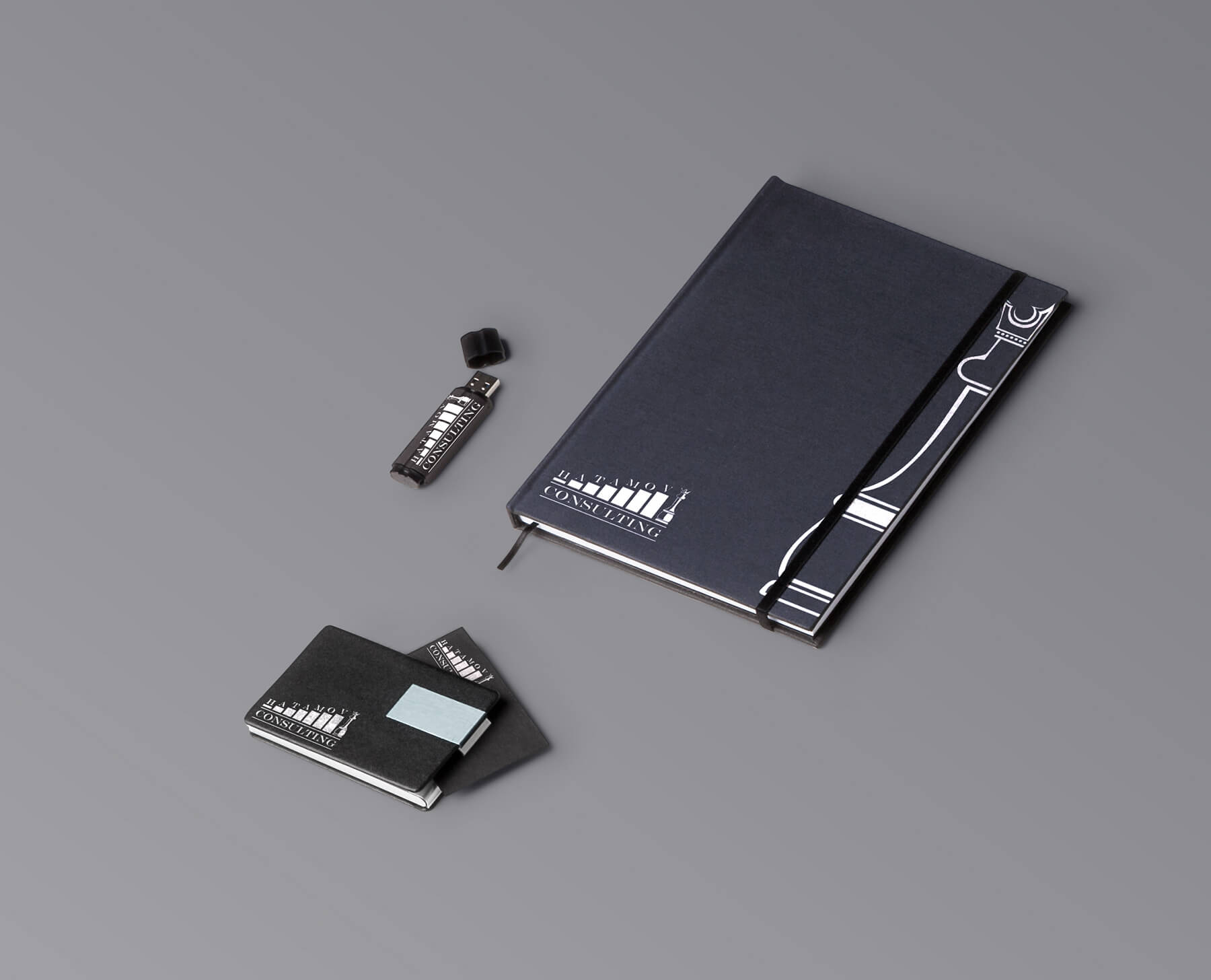 Логотип и фирменный стиль Hatamov Consalting 9