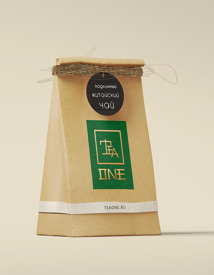 Tea One: разработка логотипа и фирменного стиля для интернет-магазина чая 1